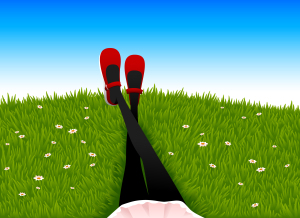 relax on lawn f